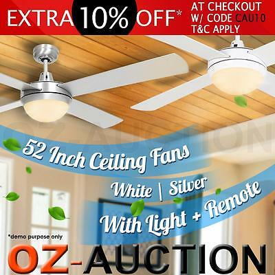 52 inch (1300mm) Ceiling Fan with Light and Radio Frequency Remote Control