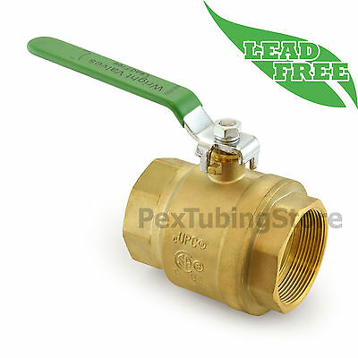 "3"" NPT Threaded Lead-Free Brass Ball Valve, Full Port, 400psi WOG"