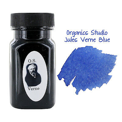 Organics Studio Masters of Writing Fountain Pen Ink, 55ml, Jules Verne Blue