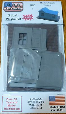 AM Models S Scale #805 Buck's Creek Station -- Kit Plastic