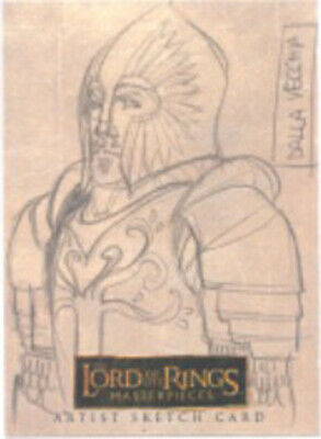 Lord of the Rings Masterpieces Vecchia Rohan Soldier Sketch Card