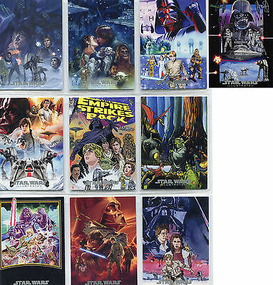 Star Wars ESB Illustrated One-Sheet Movie Poster Reimagined Complete 10 Card Set