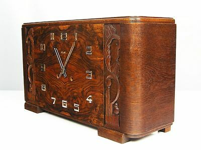 Rare Beautiful Pure Art Deco Kienzle Chiming Mantel Clock  With Pendulum