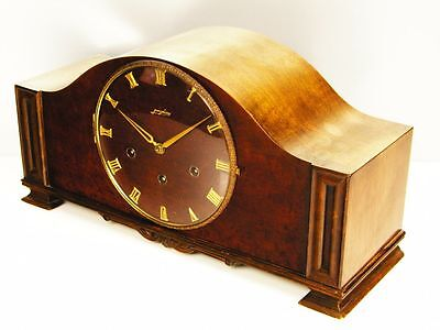 Beautiful  Art Deco  Westminster Junghans Chiming Mantel Clock