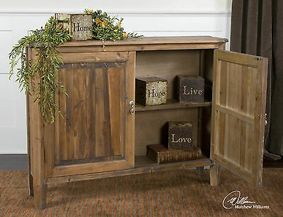 """10"""" D Narrow Farmhouse Wood Cabinet Console Chest Entry Table French Country"""