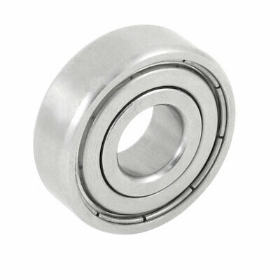 Siver Tone Stainless Steel 32mm OD 12mm ID Deep Groove Ball Bearing