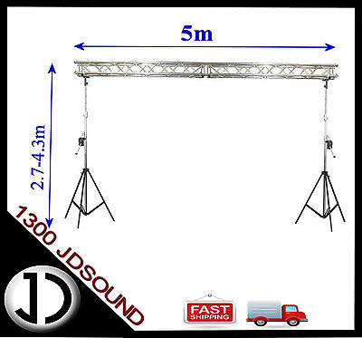 5m x 4m 290mm TRI truss Truss stand - Heavy duty winch up lighting truss NEW