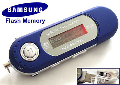 New Blue Usb 2.0 8Gb Mp3 Wma Player With Fm And Record