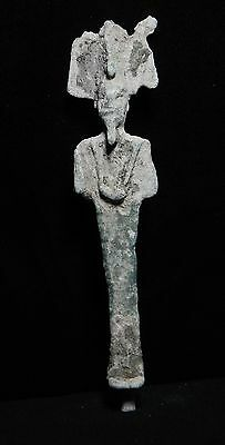 Zurqieh -Ancient Egypt, Beautiful Bronze Osiris Statue, 1075 - 600 B.c