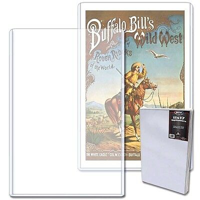 20 BCW 11X17 Art Print Toploader Rigid Top Load Holder Poster Menu Photo Frame