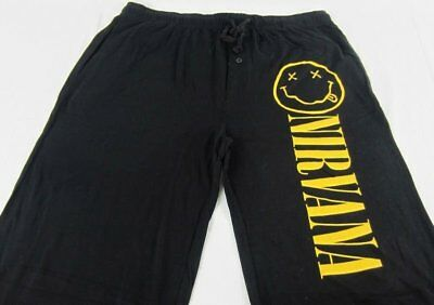 Mens Womens NEW Nirvana Black Pajama Lounge Pants Size XS S M L & XL
