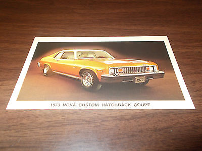 1973 Chevrolet Nova Hatchback Coupe Vintage Advertising Postcard