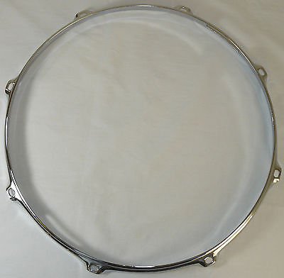 "14"" 8 Hole 3mm Triple Flanged Chrome Drum Hoop Batter Side between 2.3 Die Cast"
