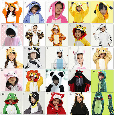 20 Style Children Unisex Kigurumi Cosplay Animal Costume Onesie Sleepwear