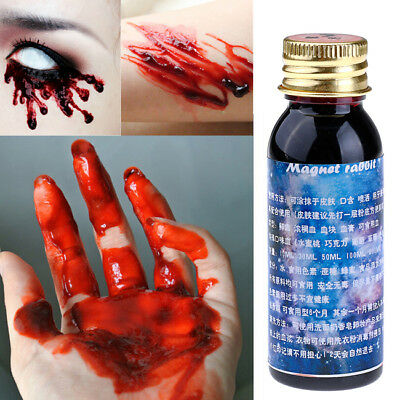 Horror Blood FX MakeUp Halloween Stage Fake Prank Theatrical Vampire Red Tube EE