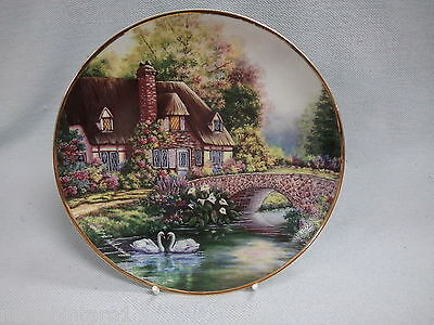 #ZZ.  CERAMIC COLLECTOR PLATE - COTTAGE AT MEADOWGATE by VIOLET SCHWENIG