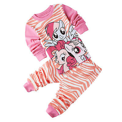 My Little Pony Toddler Kids Baby Girls Nightwear Pajamas Set Sleepwear Pj's Suit