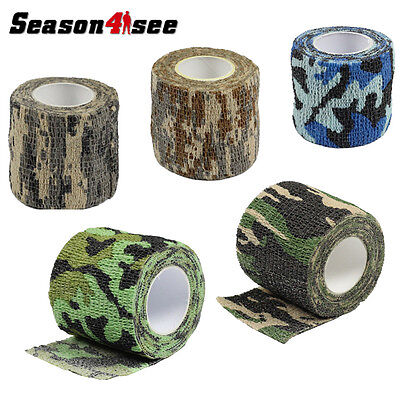 4.5M Medical Stretch Bandage Camouflage Disguise Tape Waterproof Wraps Tool