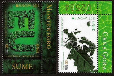 Montenegro Mnh 2011 Europa - The Forest