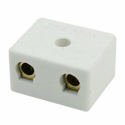 2W5H Double Pole 5 Hole Insulating Porcelain Terminal Block Connector 25A