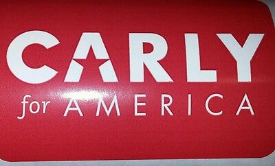 Carly Fiorina For America 2016 President Official Campaign LAPEL  Sticker 10x