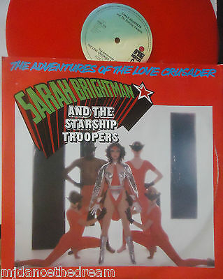 "SARAH BRIGHTMAN & STARSHIP TROOPERS The Love Crusader ~ 12"" Single PS RED VINYL"