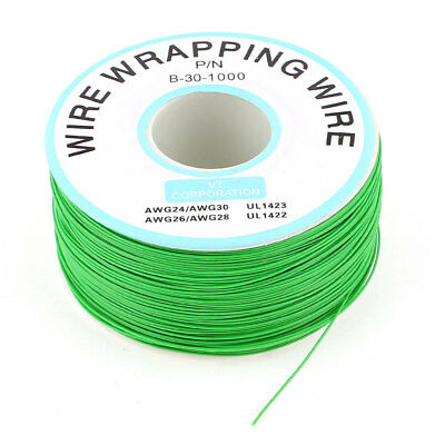 Breadboard P/N B-30-1000 Tin Plated Copper Wire Wrapping 30AWG Cable 305M Green