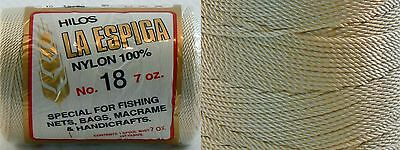 Omega Nylon Crochet Thread Size 18 - Beige Color #16 - Nylon Thread