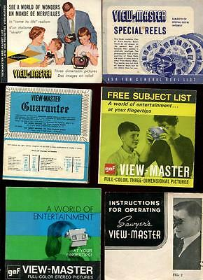Large Collection of VIEW-MASTER Literature