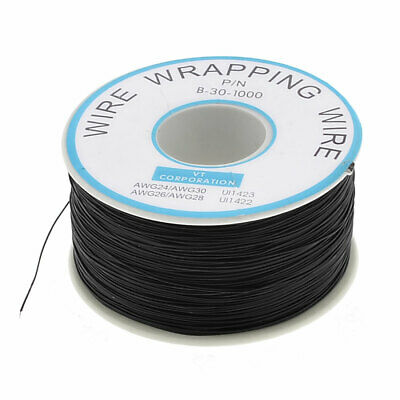 P/N B-30-1000 Tin Plated Copper Wire Wrapping 30AWG Cable Black 250M