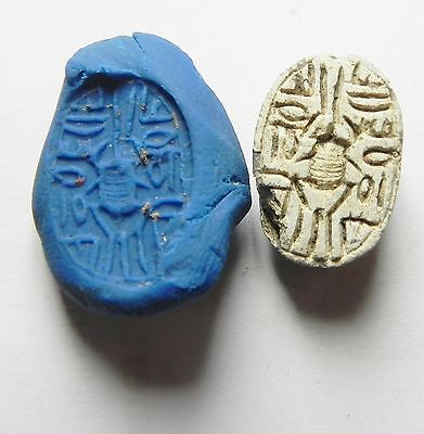 Zurqieh - Ancient Egypt . Middle Kingdom, 17Th Dynasty Stone Scarab, 1600 B.c