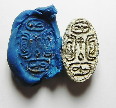 Zurqieh - Ancient Egypt . Middle Kingdom, 17Th Dynasty Stone Scarab, 1600 B.c • CAD $420.16