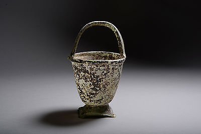 Rare Ancient Roman Glass Situla 350 AD