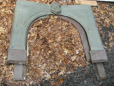 "c1840 STONE mantle FIREPLACE SALVAGED 46"" x 60"" wide FIREBOX = 36"" w x 35"" h"