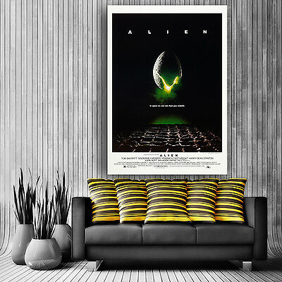 Alien Classic Movie Poster Large Giant Huge Print Wall Art Gloss or Satin