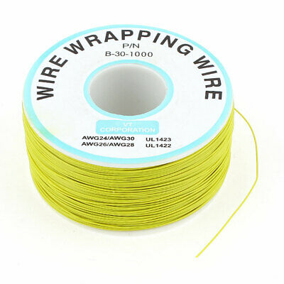 1000Ft 305M 0.25mm Tin-Plated Copper Wire-Wrapping Wire Cable 30AWG Yellow