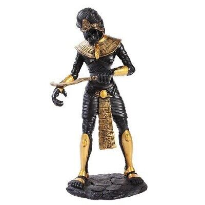 Ancient Egyptian Black & Gold Mummy King Tut Zombie Figurine Decor Collection