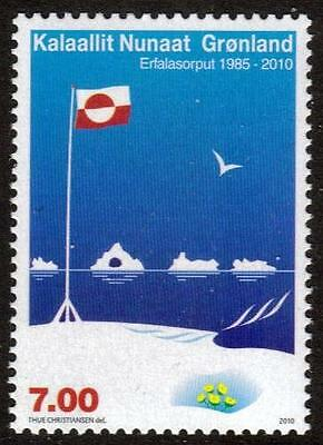 "Greenland Mnh 2010 25Th Anv Of The National Flag ""erfalasorput"""