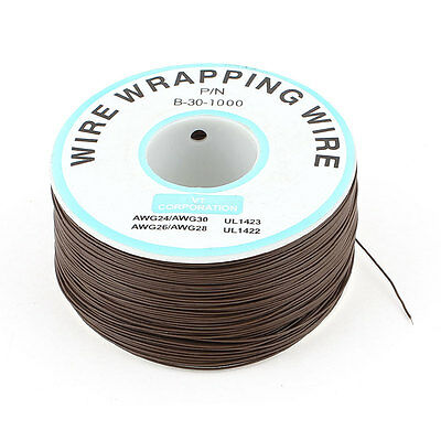 P/N B-30-1000 0.25mm Tin Plated Copper Wire Wrapping 30AWG Cable 305M Brown
