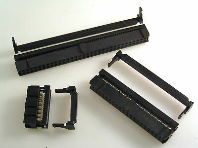 Ribbon Cable DIL IDC Socket/Strain Relief 2.54mm Polarised Range 10to64 Way EB49