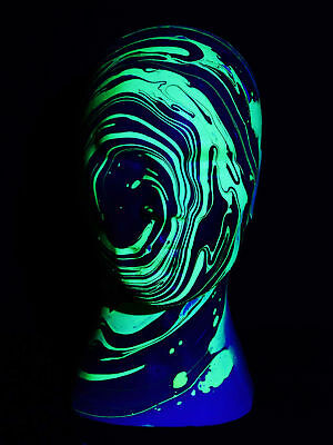Glowhead Schwarzlicht Deko Kopf Black/Yellow Neon Psy Goa Blacklight UV Head