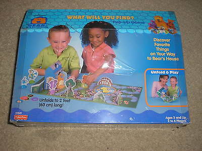 Brand New Fisher Price Bear in The Big Blue House Pop Up Game