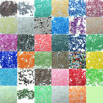 Free shipping 1000pcs Loose Charm 2MM round Glass Seed beads Color pick