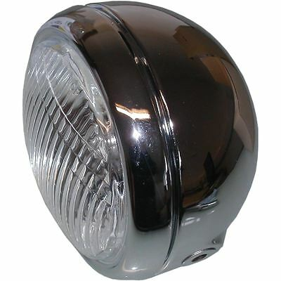 Headlight Round Chrome Complete Universal 4.5""