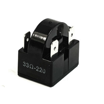 Black Plastic Shell 33 Ohm 4 Pins PTC Starter Relay for Refrigerator