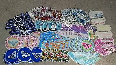 VTG 90's ROXY HAWAIIAN CALIFORNIA BEACH GIRL HEART SURF SKATEBOARD STICKER DECAL