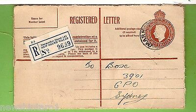 #d205.  1951 Registered Letter Envelope To Sydney