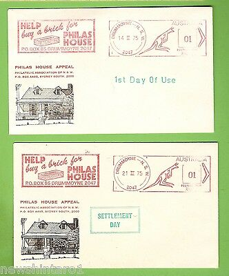 #d205.  Two  Stamped Envelopes - 1975  Philas House Appeal, Drummoyne