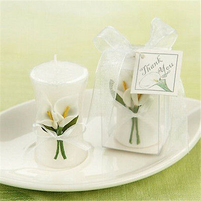 FD2768 Elegant Floral Flower Candle With Box For Wedding X'mas Home Decor Gift☆