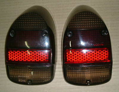 Light lens rear VW Beetle 1968 1974 tomb stone style, Smoked sold as a pair
